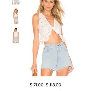 NWT Tularosa crop top